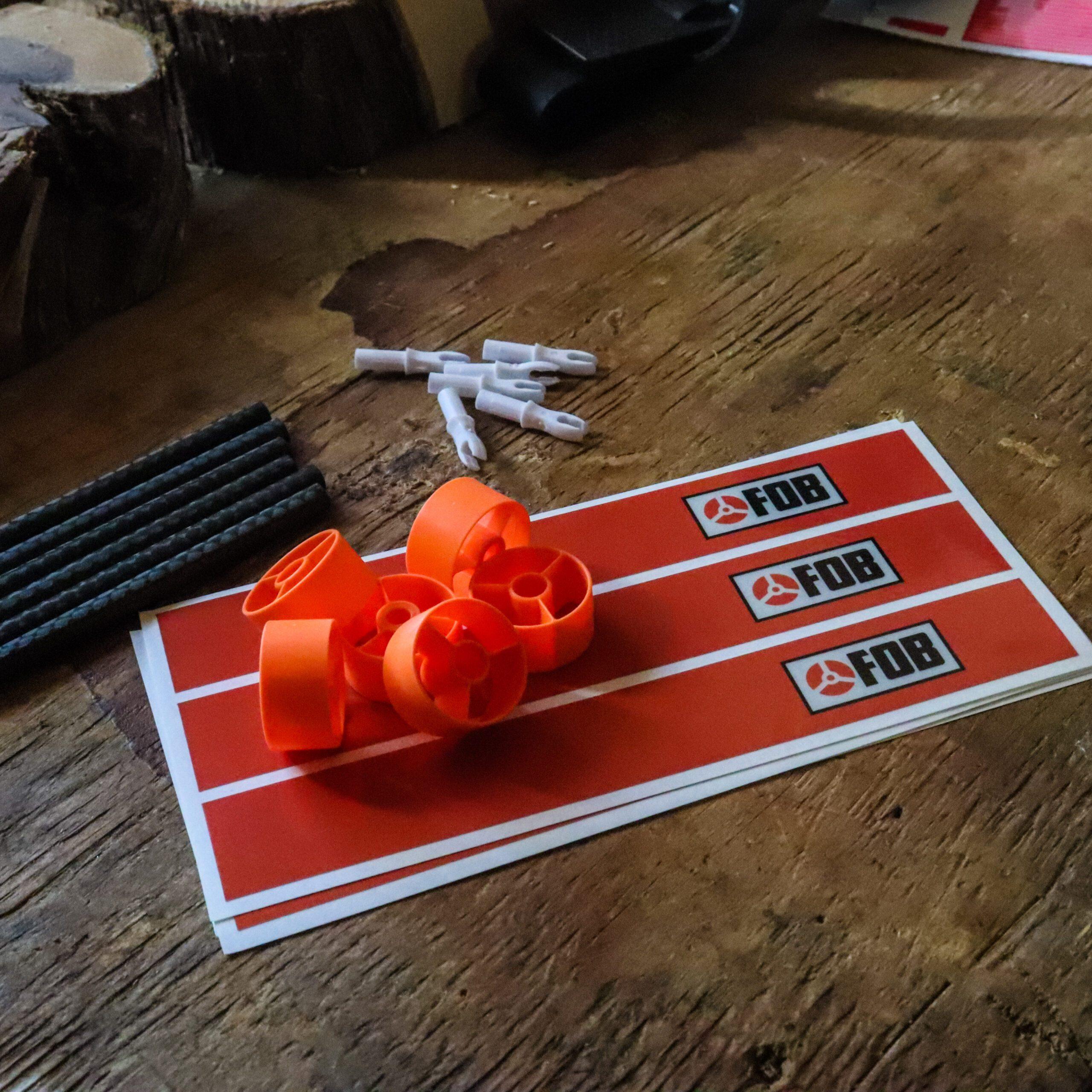 FOB Neon Orange Reflective Arrow Wraps