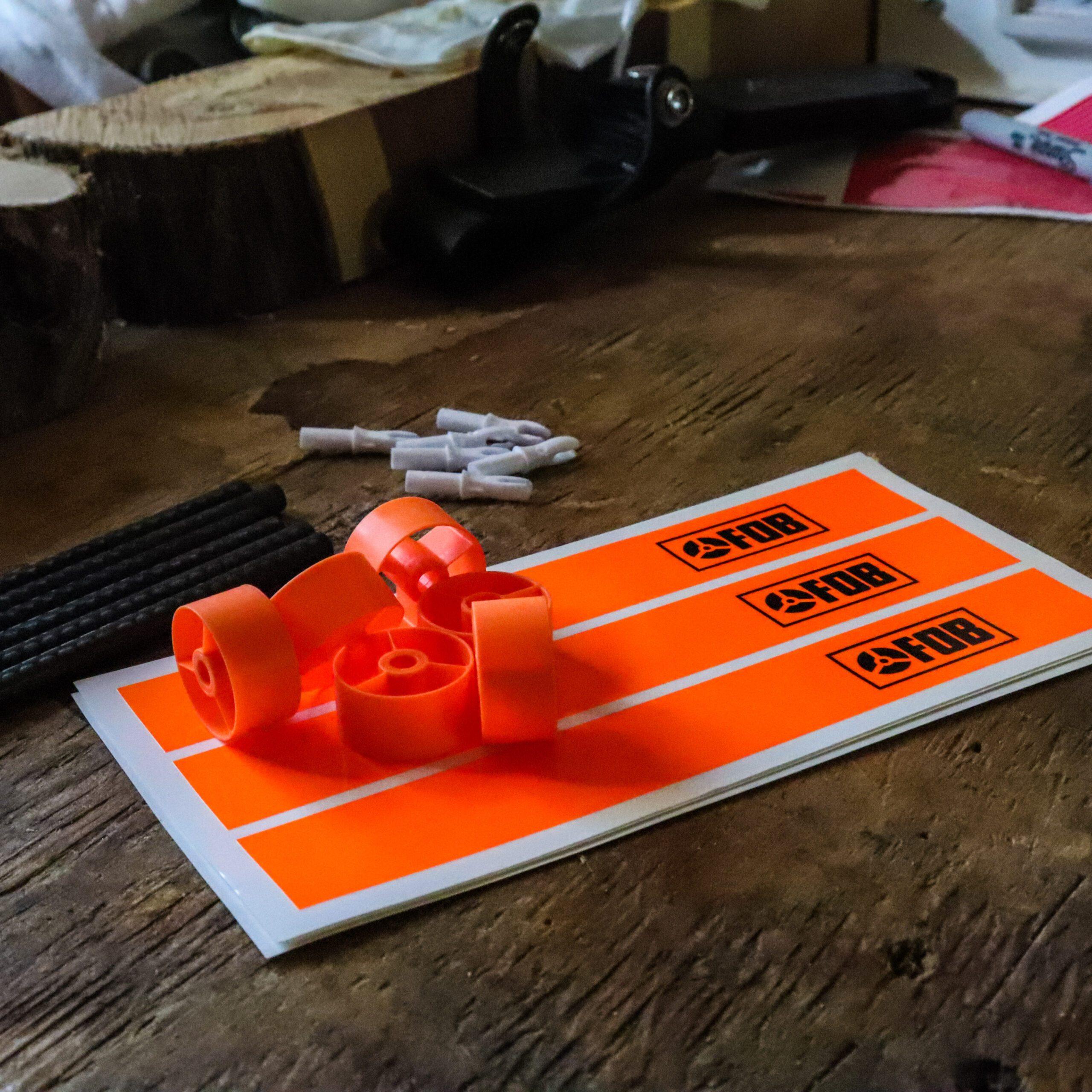 FOB Neon OrangeFluorescent Arrow Wraps